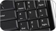 клавиатура с выделенным блоком цифровых кнопок ноутбука Asus M51Sr
